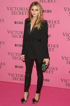 Olivia Palermo arrives at the Victoria's Secret Fashion Show 2014 in London, England - 2 December 2014