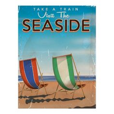 Vintage British Travel Seaside poster. Poster