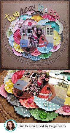 Omg I HAVE to do this page for my little girl!! I just LOVE the scallop circles of all the different papers!!! Scrappin love right here!!!  :-)