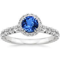 Sapphire Sienna Ring in Platinum, 5.5mm Round Blue Sapphire