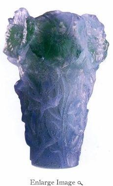 Daum Crystal Hibiscus Lilica Vase Small