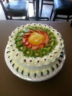 Torta de frutas frescas .