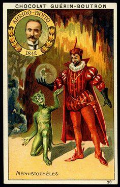 """French Tradecard - Arrigo-Boito's """"Mephistopheles"""""""