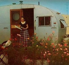 This looks like one of our first campers.  It was really old, maybe from the 40's.