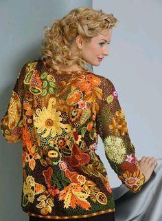 Russian free form crochet