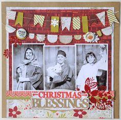 1 pg, 3 pic - Christmas Blessings | Jana Eubank, Basic Grey