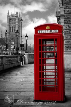 London Series - Iconic Red Phone Booth - Photo Print on Etsy, $33.67