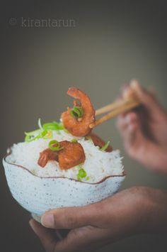 Sweet & Sour Shrimp | KiranTarun.com #shrimp #prawn #seafood #stirfry #sweetandsour