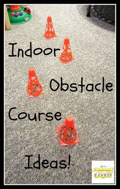Indoor Obstacle Course Ideas for Boys http://HowToRunAHomeDaycare.com #fun play for boys #indoor rainy day fun #active play