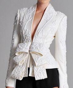 Marchesa Spring 2010 :: embroidered obi jacket