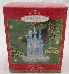 Walt Disney's 2001 Cinderella's Castle Hallmark Christmas Ornament Box