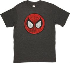 Spiderman Mask Logo T Shirt Sheer