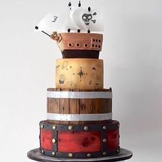 Repost @cake_story.ru: fabulosa torta para una fiesta de piratas  #piratecake #pirateparty #partycake #cakeart #cakestagram #instacake #tarta #torta #tartadecorada #tortadecorada #pastel