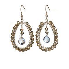 Kensie earrings- champagne & lilac. As seen on Pretty Little Liars #kvbijou #PLL #sparkle