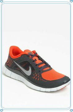 nike orange free run 3 running shoe men