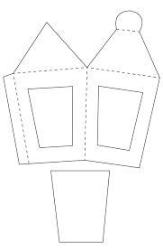 Resultado de imagen para moldes de faroles en carton