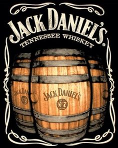 Jack Daniel's is a brand of sour mash Tennessee whiskey that is among the world's best-selling liquors and is known for its square bottles and black label. Jack Daniels Wallpaper, Jack Daniels Whiskey, Bourbon Whiskey, Jack Daniels Barrel, Jack Daniels Logo, Whiskey Barrels, Vintage Labels, Vintage Signs, Vintage Ads