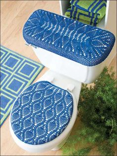 Crochet for the Home   Crochet Decor Patterns   Royal ThreadworkCrochet Covers for Toilet Seat and Tank Lid   My Handmade Bathroom  . Royal Blue Toilet Seat. Home Design Ideas