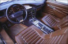 Alcantara seat insert - period correct of 1970s bentley