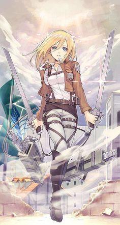 "Shingeki no Kyojin {Attack on Titan} - Christa Renz ""Historia Reiss"" Armin, Mikasa, Manga Japan, Christa Renz, Manga Anime, Anime Zodiac, Historia Reiss, Attack On Titan Anime, Christa Attack On Titan"