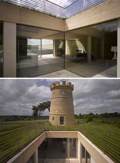 Old tower incorporated with an underground home!