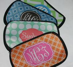 Monogrammed Bag for Makeup Toiletries  by happythoughtsgifts, $18.00