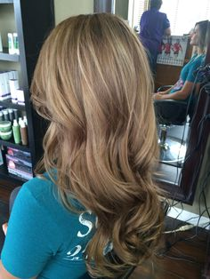 Dark blonde balyage