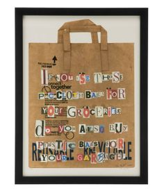 PAPER BAG - KIM SMITH | Papers, Bags, Grocery, Recycle, Artwork, Collage, Print, Frame | UncommonGoods
