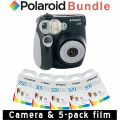 Getting this so instead of signing guest book guests take a pic of themselves with a chalk board message at the wedding.  Polaroid PIC-300 Instant Camera in Black + Accessory Kit