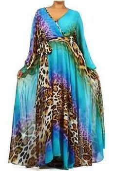 leopard print pale blue dress - Google Search