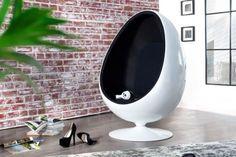 599 Euro RISS AMBIENTE Design Lounge Sessel Sitzei SPACE EGG weiss schwarz