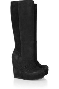 SUMINISTROS Dresswe.comTacones de cuña elegante Keen Hight Mujer Botas Botas hasta la rodilla (2)