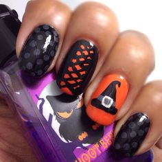 halloween - witches nail art