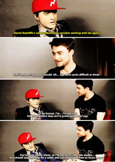 Daniel Radcliffe answers questions from his corpse