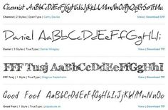 muchas fonts