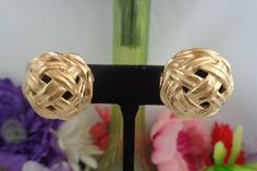 """15% off w/Coupon 21417 Vintage Givenchy Goldtone Earrings that are """"New with Tag."""" They have never been worn.  The Earrings are Round in Shape and are made in Goldtone Metal. Free Shipping to the United States. CCCSVintageJewelry.com"""