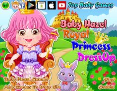Give Baby Hazel a royal princess makeover with elegant attires and accessories http://www.topbabygames.com/baby-hazel-royal-princess-dressup.html