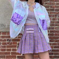 Korean fashion purple purple fashion purple aesthetic purple ulzzang fashion purple outfits purple outfits purple dress purple skirt purple hoodie purple shirt purple ethereal fashion L e l i a L' a r t Mode Harajuku, Harajuku Fashion, Kawaii Fashion, Cute Fashion, Look Fashion, Purple Fashion, Mode Outfits, Korean Outfits, Girl Outfits