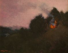 Arroyo Campfire // Original Oil Painting //