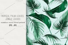 Palm leaves, jungle vector pattern by Tropicana on @creativemarket