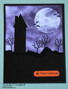 Holiday Home Halloween black/purple Luvin Stampin: 2014 Holiday Catalog Countdown - 5 DAYS AND COUNTING