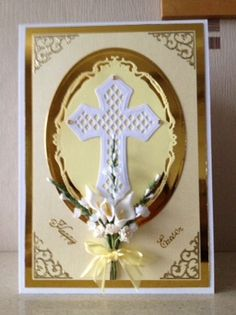 Easter card using Spellbinders dies
