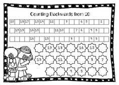 """FREE MATH LESSON - """"Counting Forwards and Backwards to 20 (Freebie)"""" - Go to The Best of Teacher Entrepreneurs for this and hundreds of free lessons. PreKindergarten - 3rd Grade #FreeLesson #Math http://www.thebestofteacherentrepreneurs.net/2015/01/free-math-lesson-counting-forwards-and.html"""