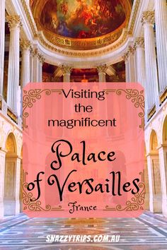 Palace of Versailles, a short distance from Paris, is a grand monument of French history, depicting the opulent lifestyle of the royals at the time. Paris Travel, France Travel, Palace Of Versailles France, Driving In Italy, Travel Advice, Travel Goals, Travel Ideas, Europe Travel Guide, Travel Destinations