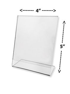 Lot of 100 Clear Acrylic 4 x 5 Slant Back Sign Display Holder Counter Table Top
