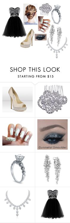 """""""Diamond homecoming"""" by tacosofimmortality ❤ liked on Polyvore featuring Jimmy Choo, Nina and Effy Jewelry"""