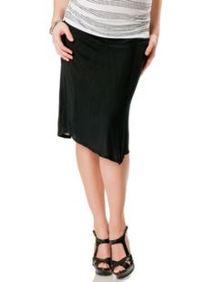 A Pea in the Pod Collection: velvet by GRAHAM and SPENCER Under Belly Knee Length Stretch Fabric Maternity Skirt Velvet. $39.99
