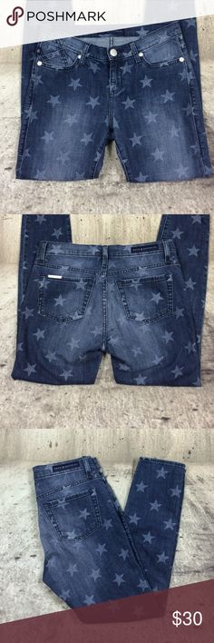"""Rock and Republic printed crop skinny jeans Rock and Republic printed crop skinny jeans humburg style cotton and spandex blend inseam 26"""" rise 8"""" Rock & Republic Jeans Skinny"""