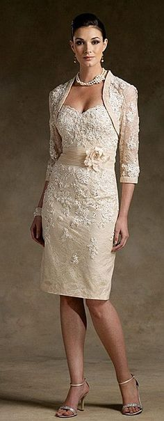 I think this is perfect for a non traditional wedding dress...I could totally rock this dress! by HOLLACHE