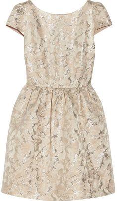 Alice + Olivia Nelly metallic jacquard dress